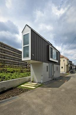 River Side House i Japen har en unik arkitetktur.