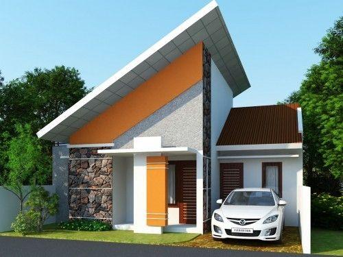 Bentuk Atap Miring Rumah Minimalis | Rumah Minimalis, Arsitektur, Desain  Rumah