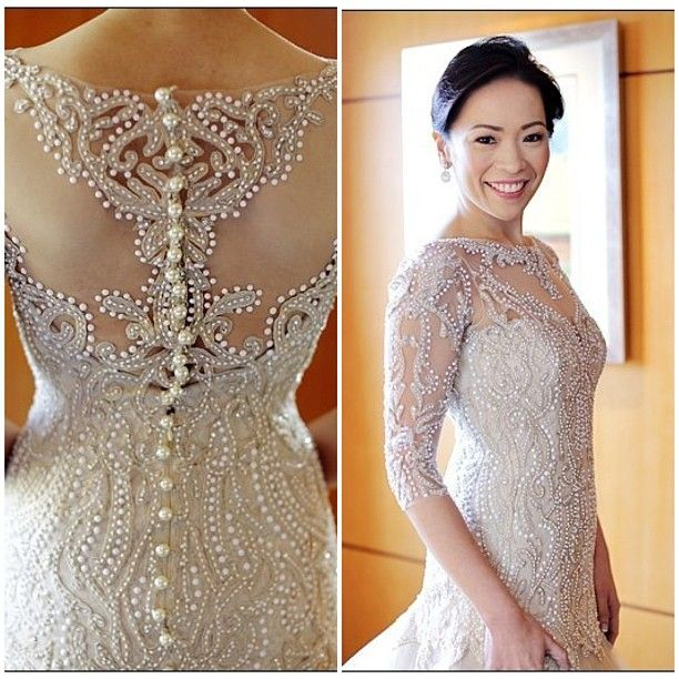 Veluz Reyes Wedding Gown: Chinnie Custom Gown By Veluz Reyes.