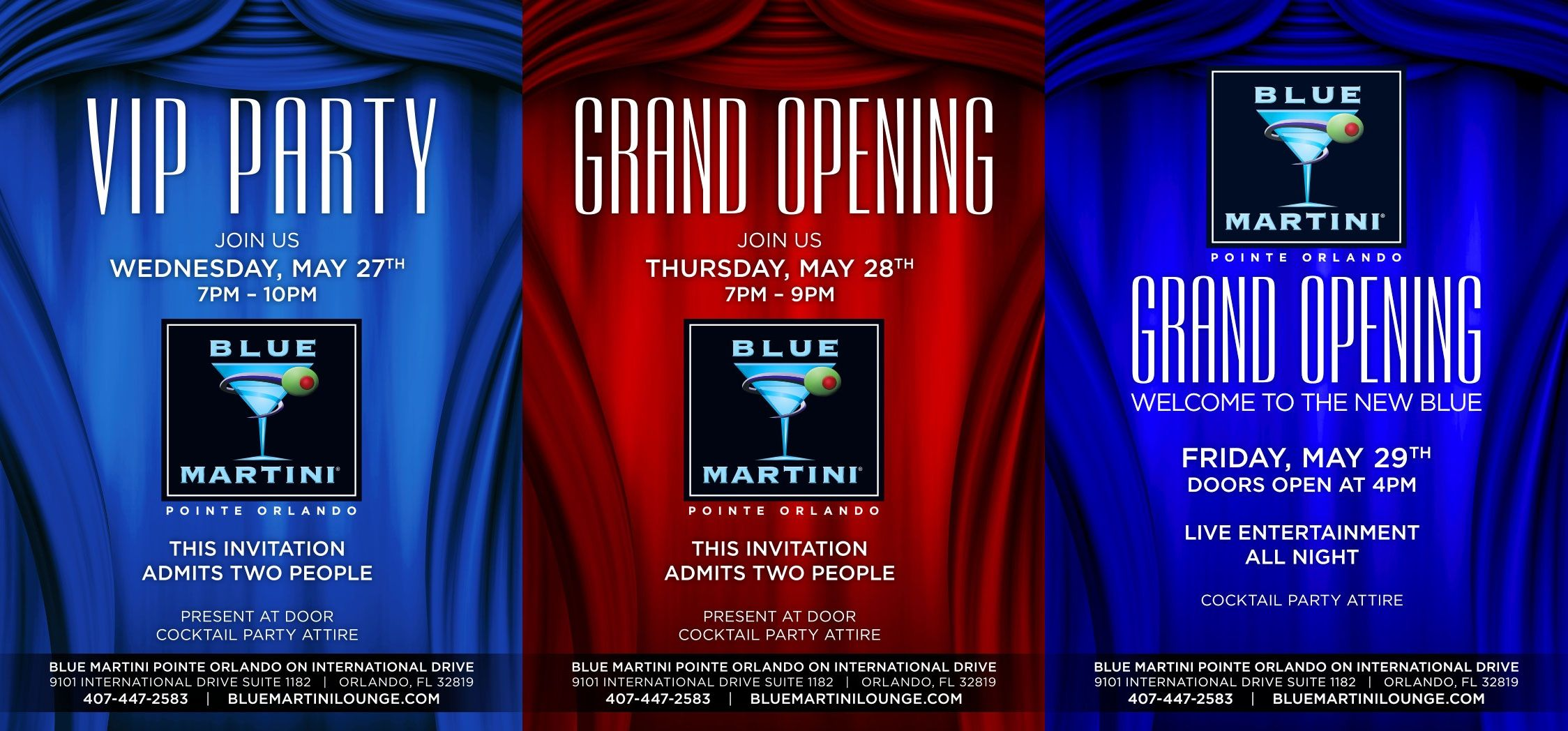 Blue Martini Pointe Orlando Grand Opening On 29th May 2015 Door Opens At 4pm Happy Hour 3pm 7pm We Are Known For Of Blue Martini Best Happy Hour Martini