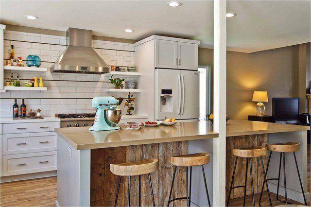 Colores y estilos para las cocinas integrales pequeñas rustico