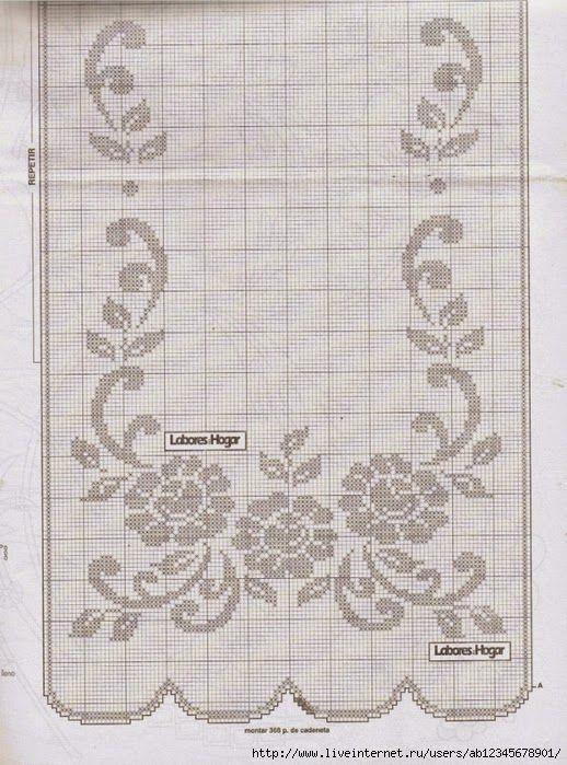 no title] | Filet Crochet | Pinterest | Cortinas, Ganchillo y ...