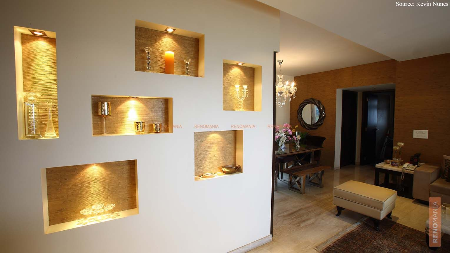 wall niches enhance your interiors renomania ideas. Black Bedroom Furniture Sets. Home Design Ideas