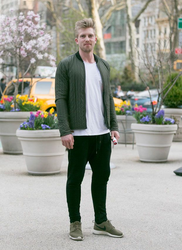 Men's fashion · Street Style: Tapered Sweatpants and Olive Green Nikes: ...