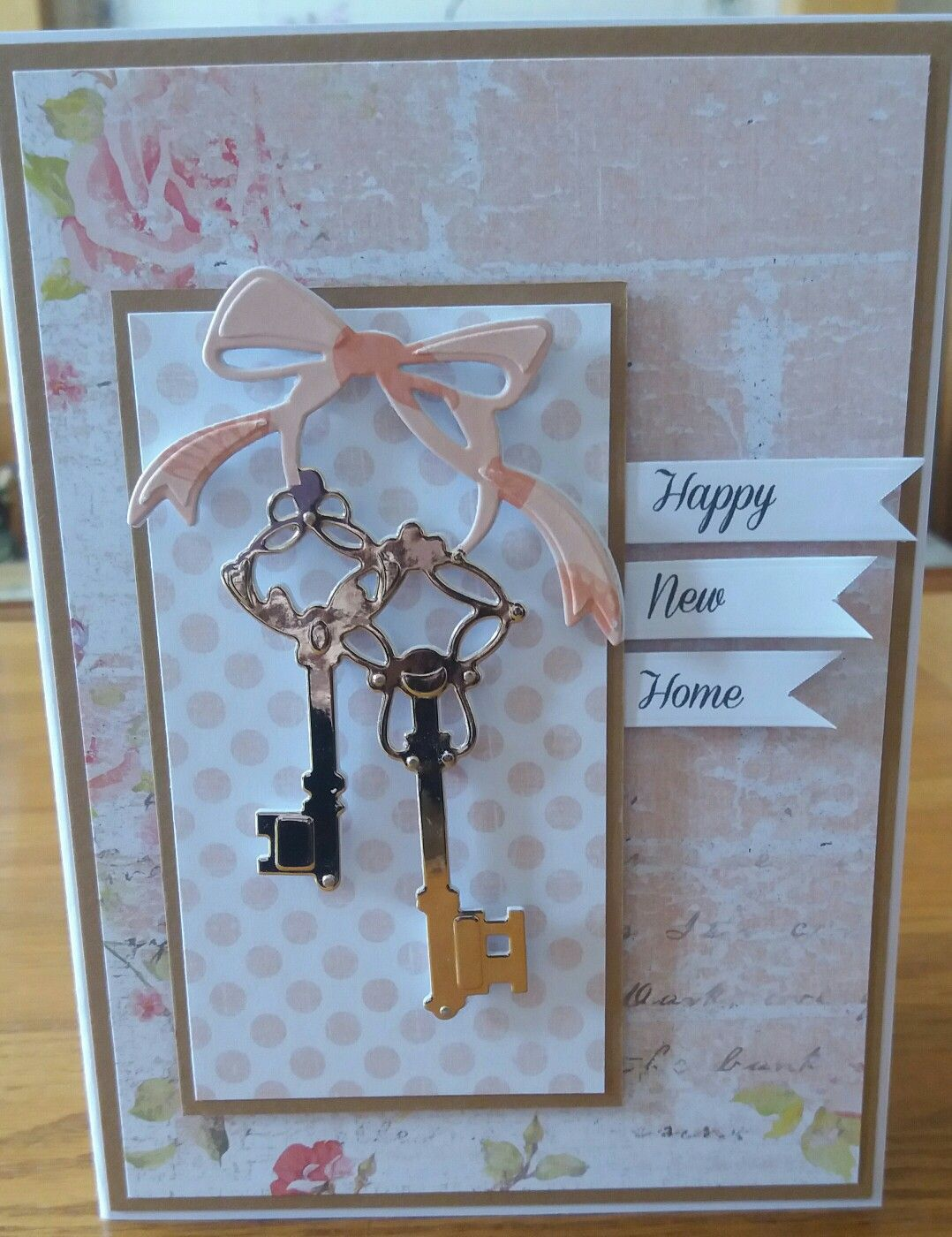 New Home Card Keys Are A Tonic Die Papers Are Anna Marie Designs Happy New Home Cards New Homes