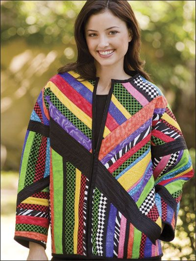 Quilting - Clothing & Accessories Patterns - Sweatshirt Jacket ... : quilted sweatshirt jacket - Adamdwight.com