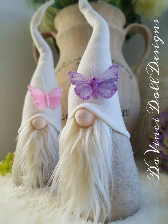 Easter Spring Swedish Tomte Butterfly embellished Gnome Nordic Nisse by DaVinciDollDesigns© #softcurls