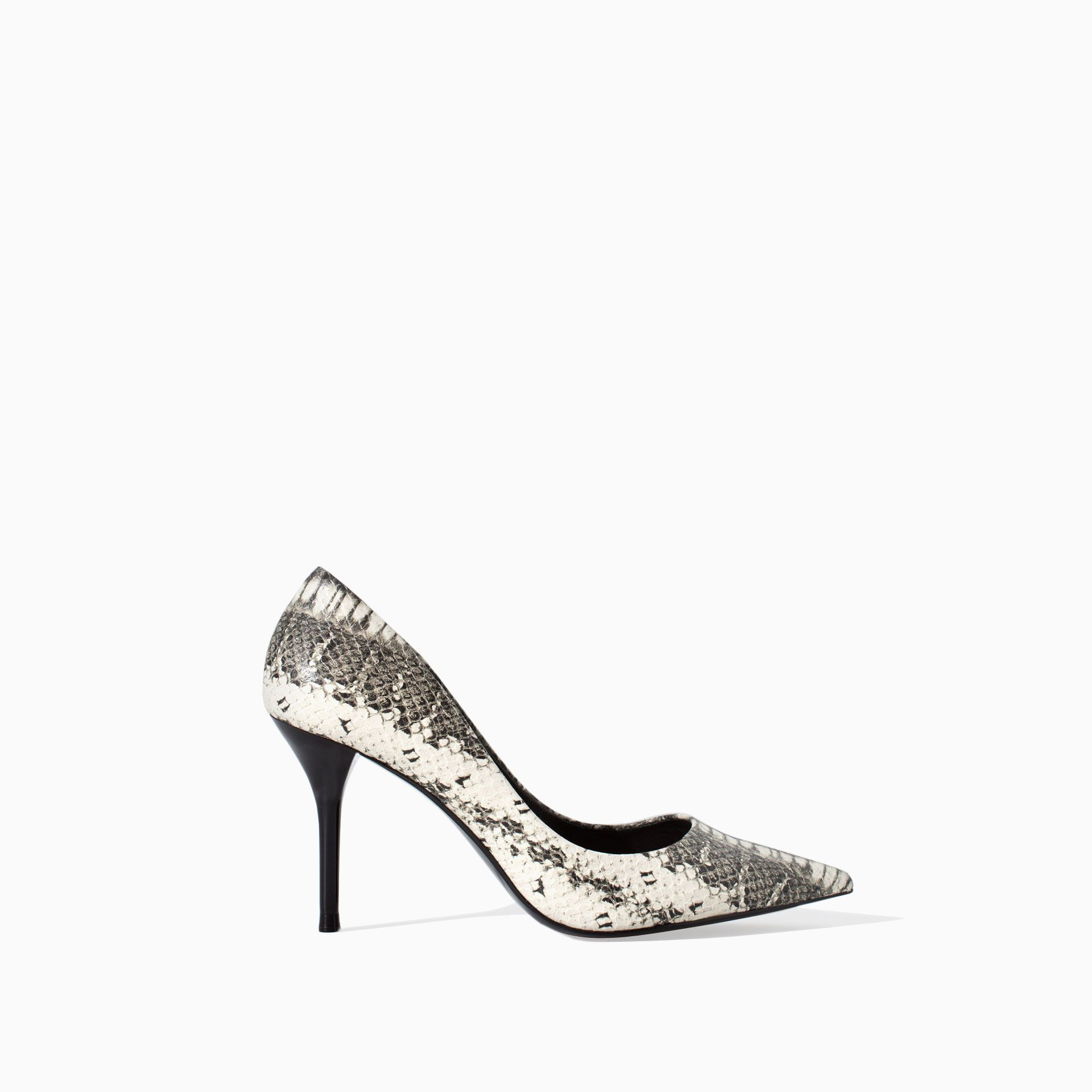 0cf2ee08bf5 Image 1 of SNAKESKIN LEATHER COURT SHOE WITH HEEL from Zara