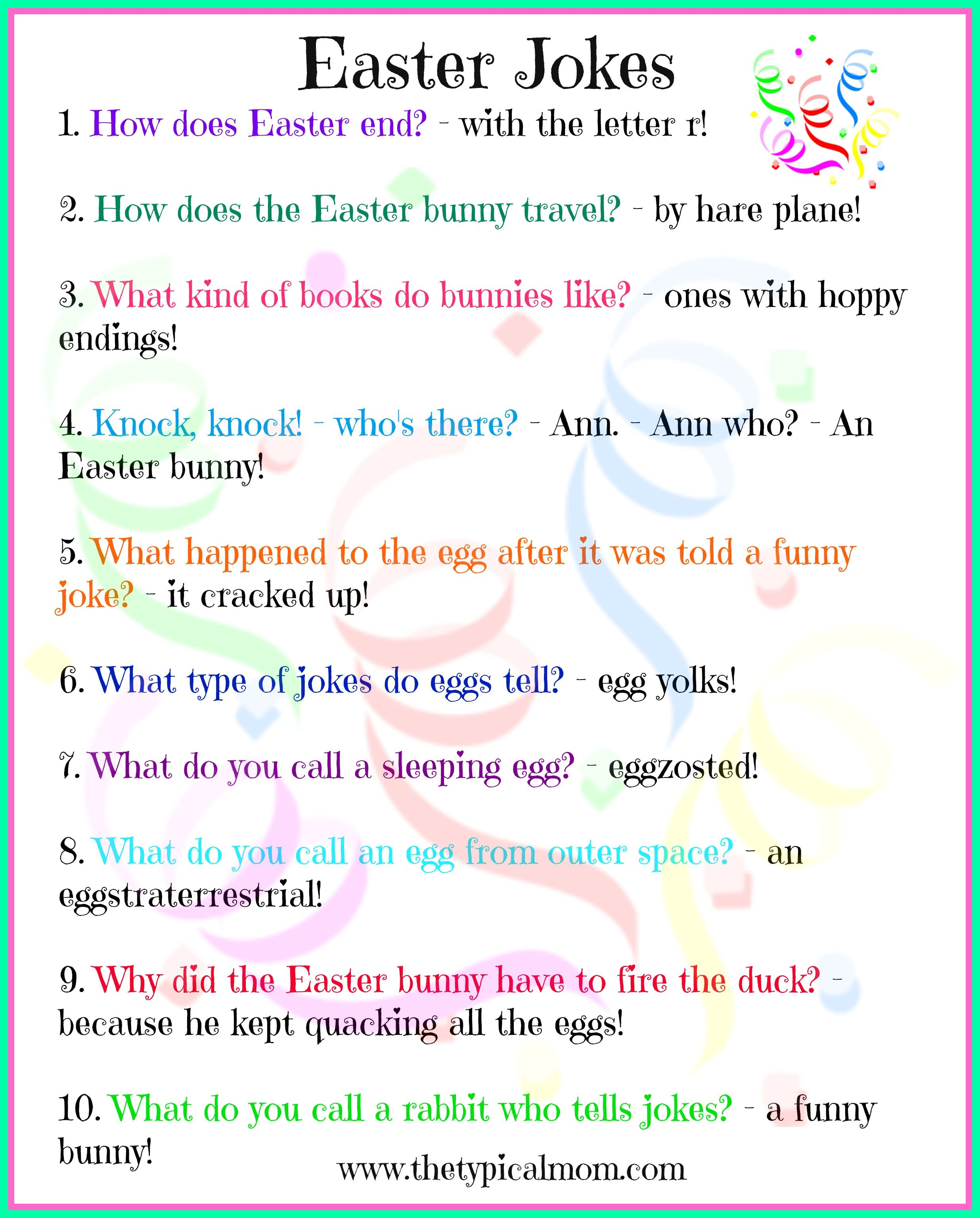 Free Printable Easter Jokes For Kids Kids Love Jokes And Here Are Some Specific To Easter