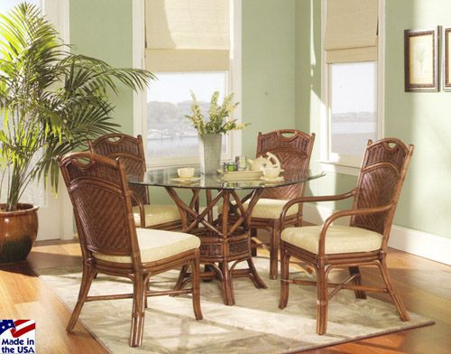 Cane Ridge Round Dining Sets By Classic Rattan