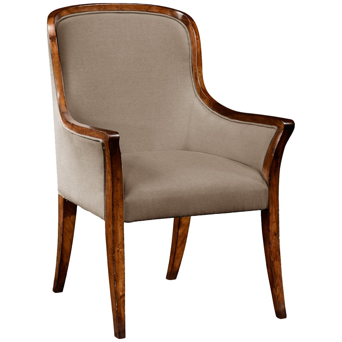 Jonathan Charles Low Curved Back Upholstered Dining