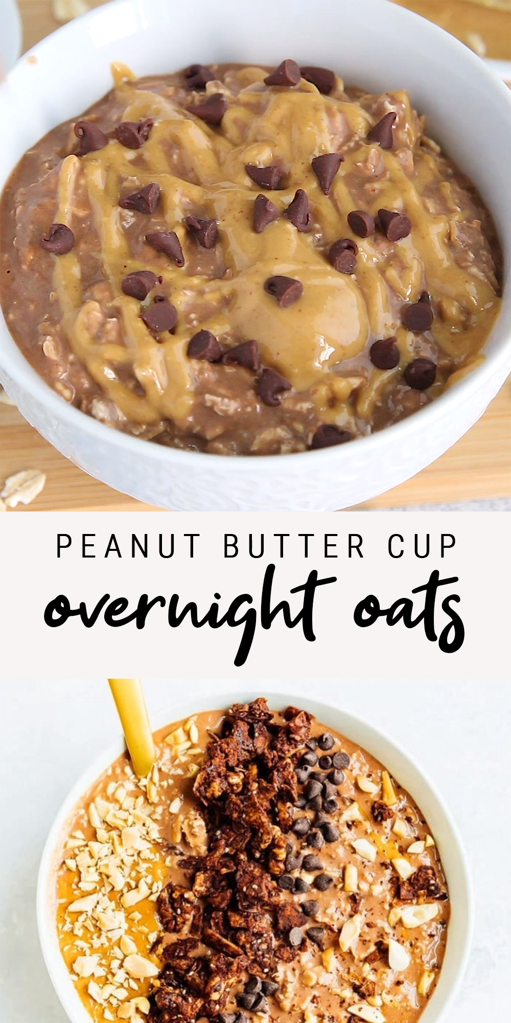 Peanut Butter Cup Overnight Oats | Easy Protein-Packed Recipe | Vegan + Gluten-Free