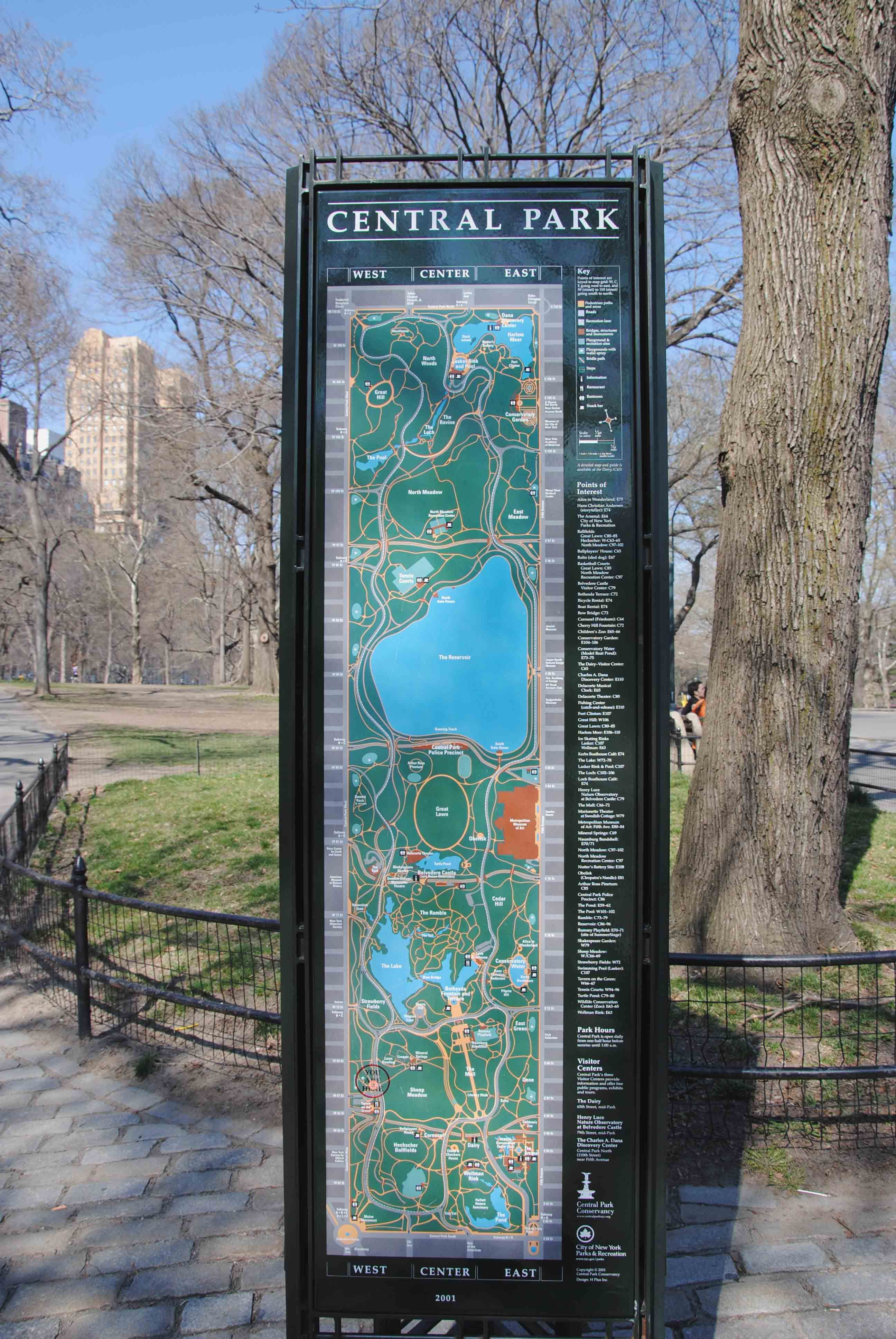Central Park Map  I Love Maps GPS Will Never Take Their Place In - Nyc map oasis
