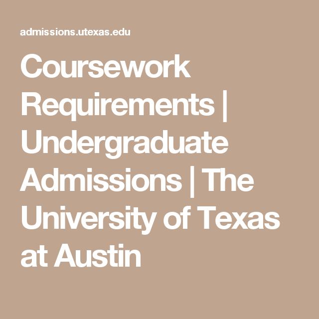 undergraduate coursework