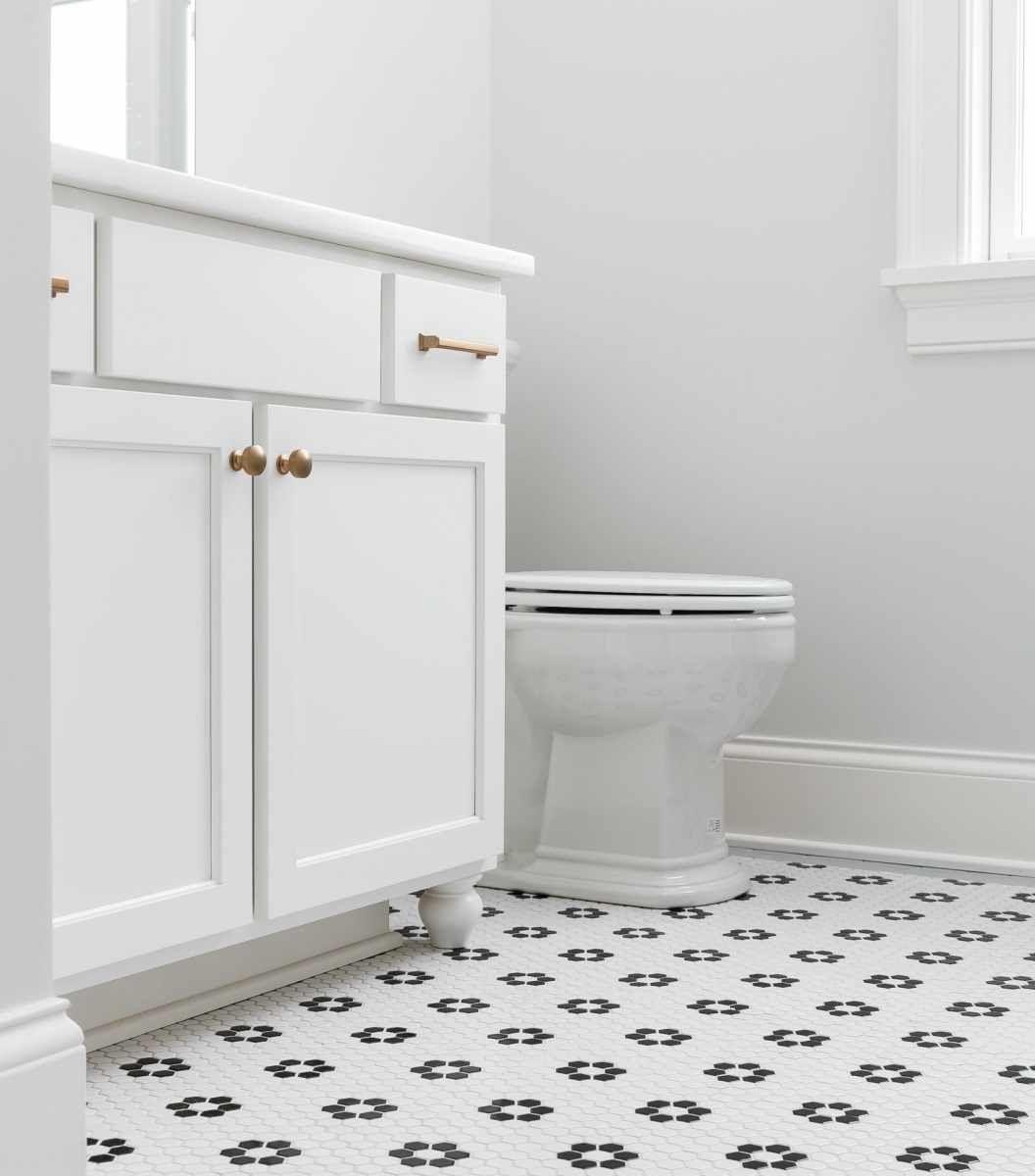 Glenview Park 7 Penny Tiles Bathroom Patterned Floor Tiles