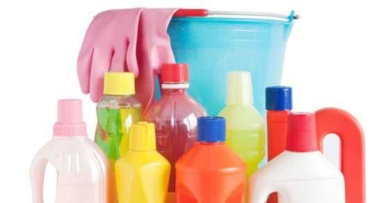 Itens naturais de limpeza