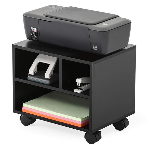 Fitueyes Mobile Under Desk Printer Machine Stand Work Cart With Wheels Fitueyes Printer Stand Printer Stands Printer Storage