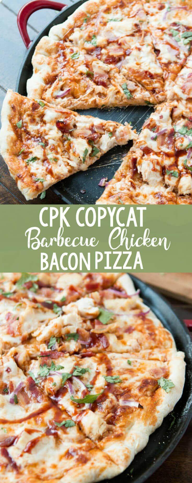 Photo of Copycat California Pizza Kitchen BBQ Chicken Bacon Pizza