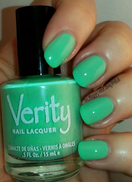 Verity Nail Lacquer Soft Green Be Hy And Polish