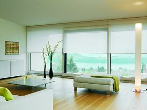 Large Window Coverings White Roller Blinds