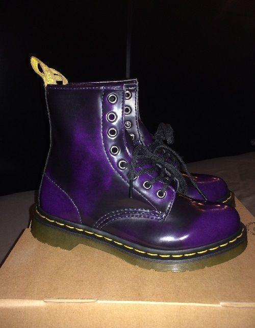 Dr. Martens Purple Vegan Leather