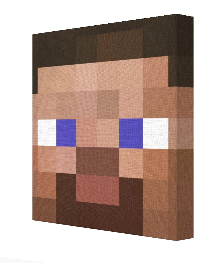 Minecraft Steve Pics On Canvas Minecraft Bedroom Bedroom Canvas Minecraft Bedroom Game