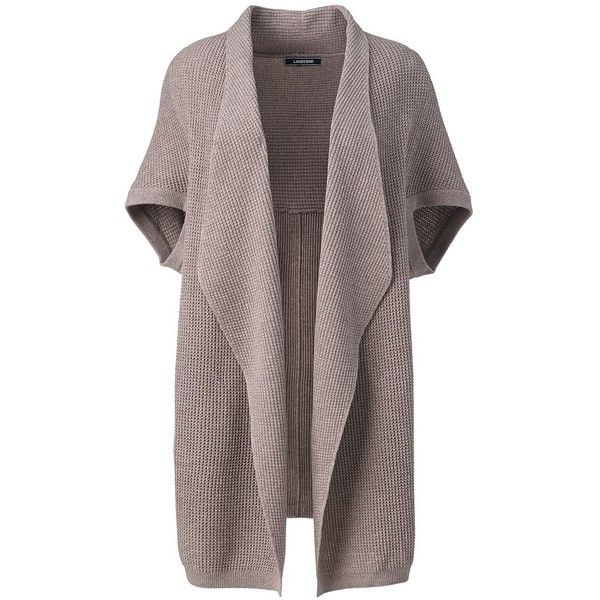 Lands' End Women's Plus Size Lofty Elbow Sleeve Open Cardigan ...