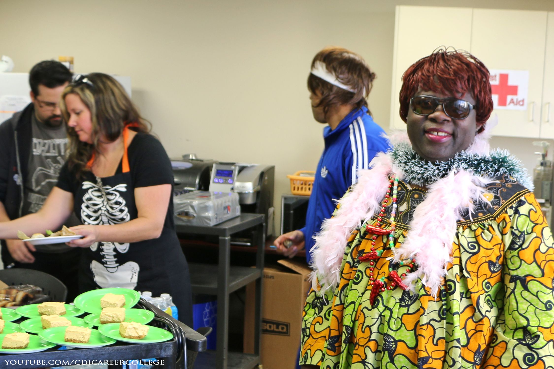 halloween costumes at the cdi college edmonton city centre campus