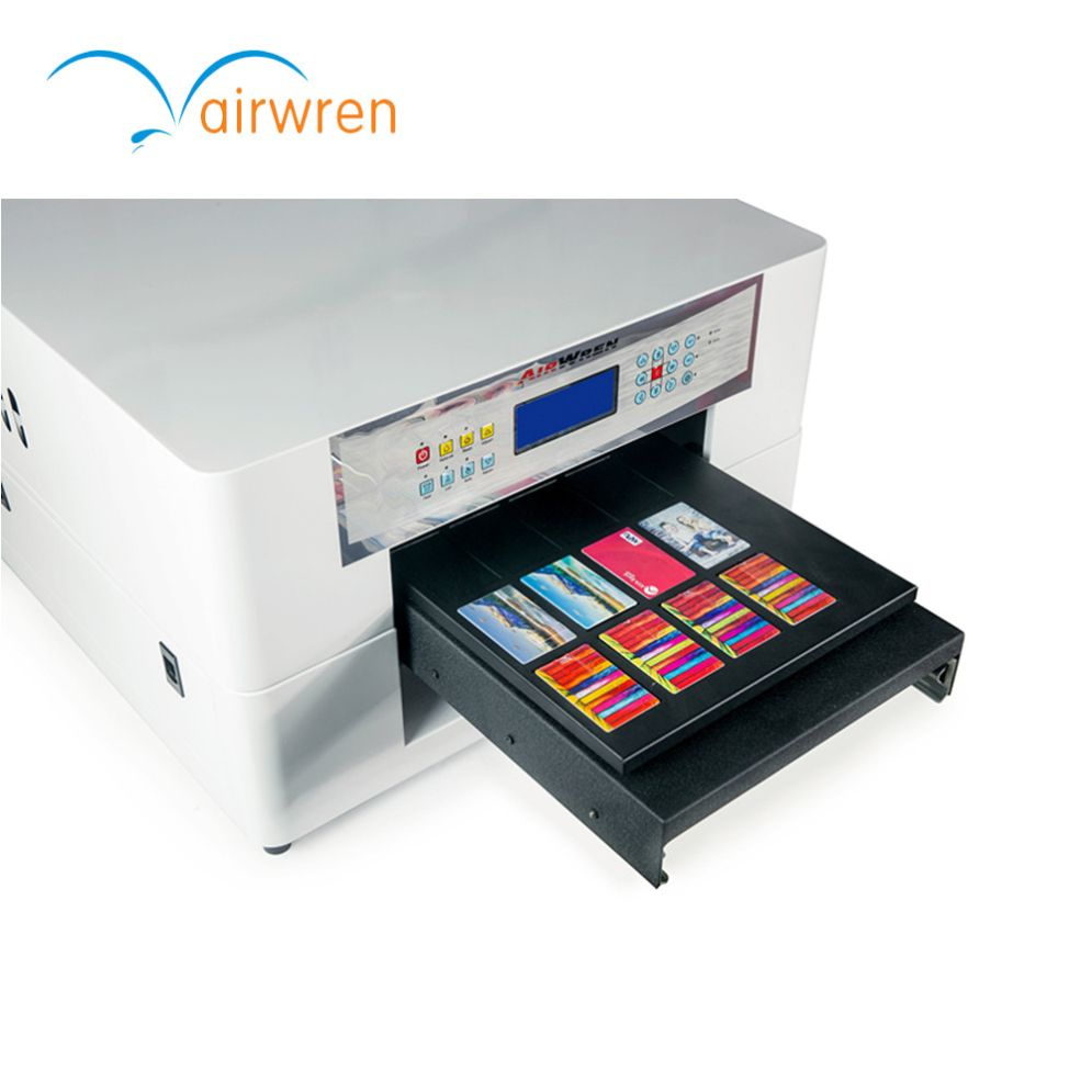 High Resolution 5760 1440dpi Plastics Uv Mini 4 Digital Inkjet Printer With Rip Software Business Card Printer Card Printer Printer