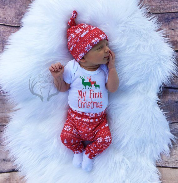 4815ea9fd My First Christmas outfit boy