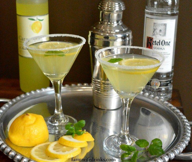 Lemon drop martini with limoncello the farmwife drinks