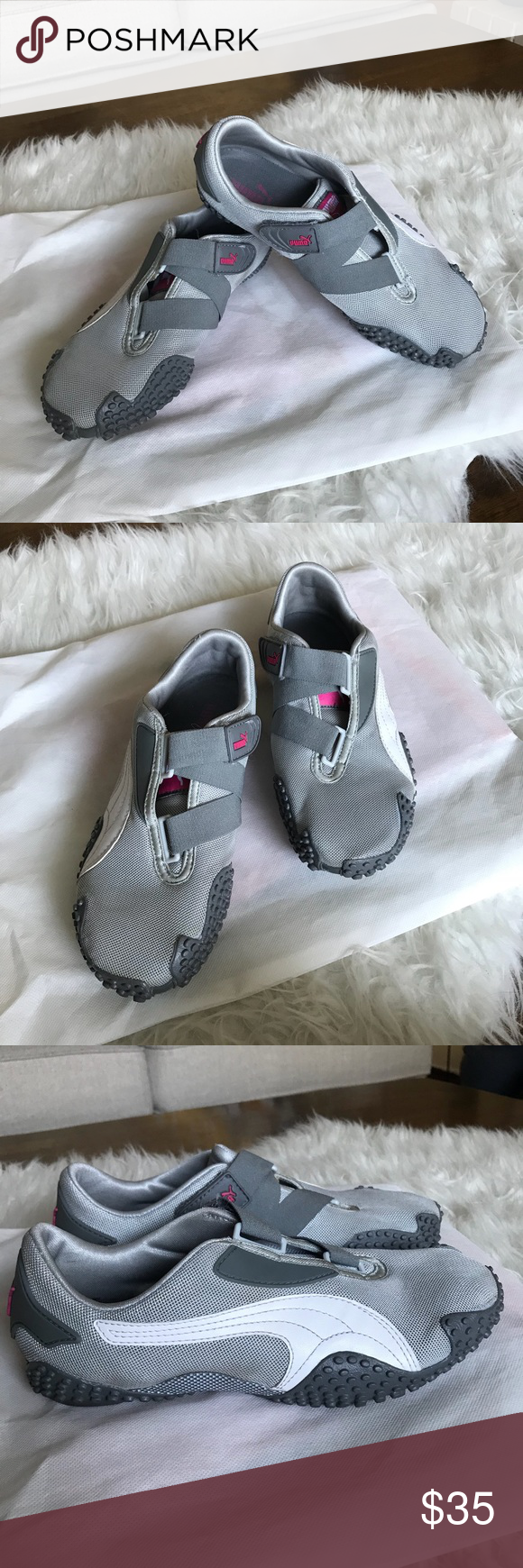 Puma Mostro Gray/White Velcro Closure