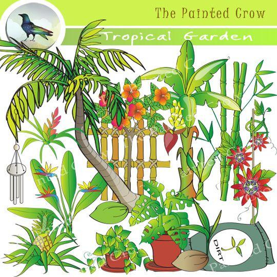 Tropical Garden Clip Art