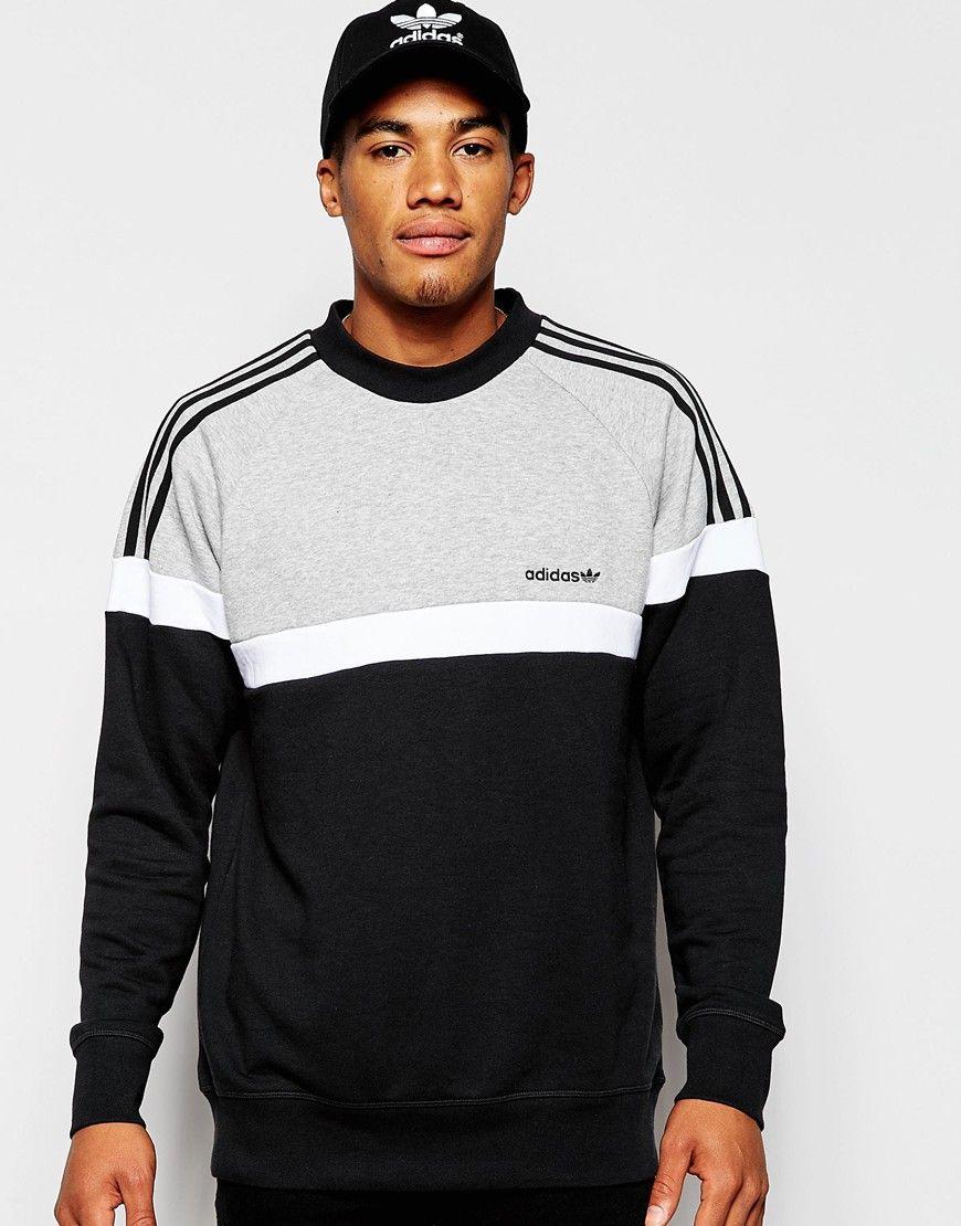 Adidas Originals Itasca Sweatshirt At Asos Com Mens Sweatshirts Hoodie Mens Sweatshirts Hoodies Men [ 1110 x 870 Pixel ]