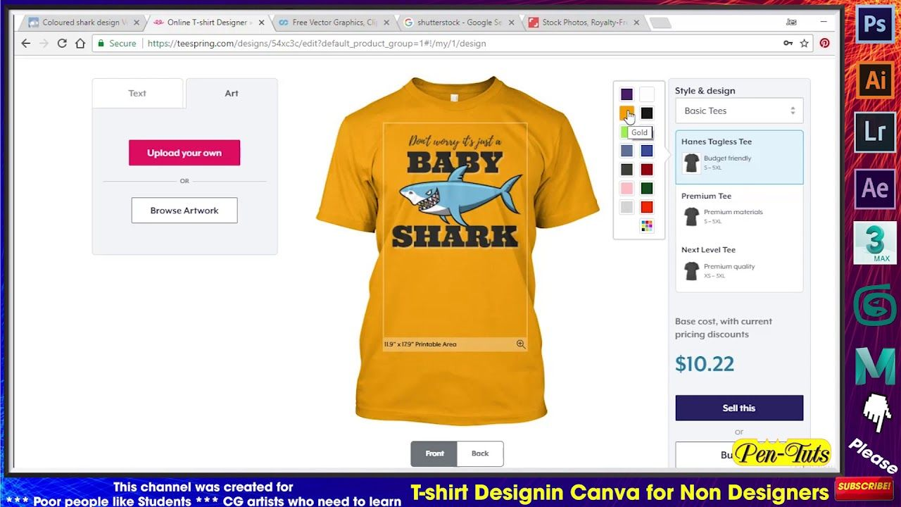 T Shirt Design In Canva
