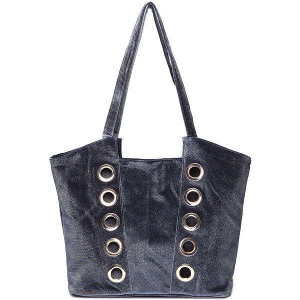Yoins Grey Velvet Circle Design Shoulder Bag 23 Liked On Polyvore Featuring