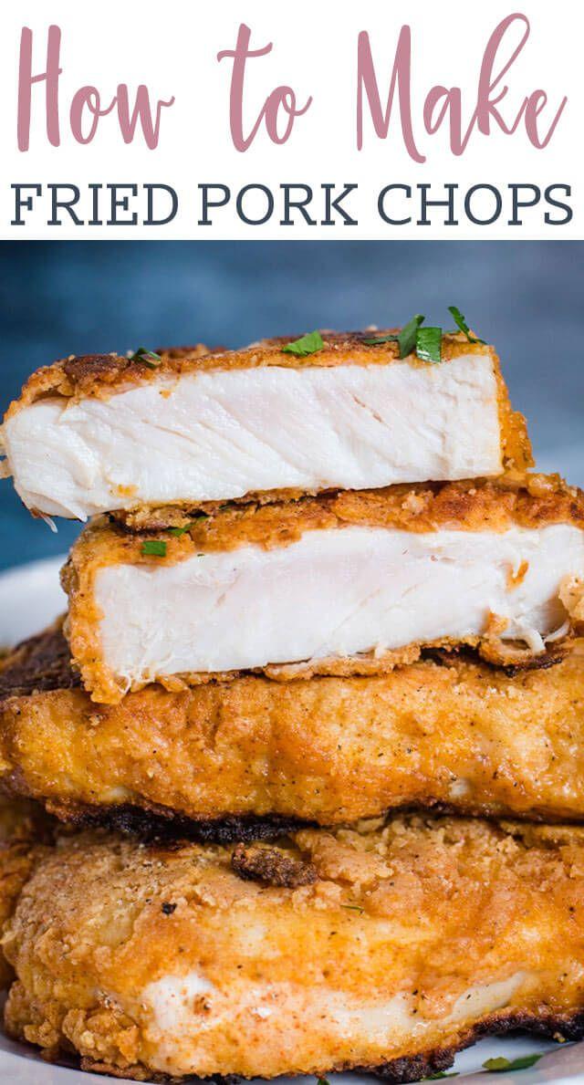 Fried Pork Chops Recipe {How to Make Crispy Pork Chops}