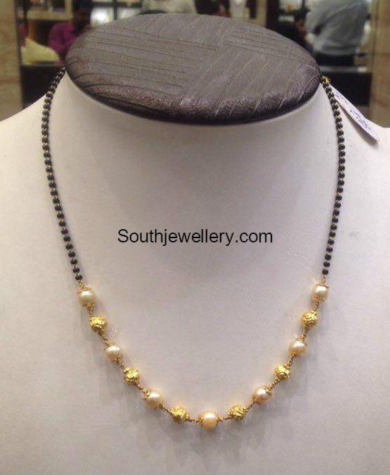 5 Grams Black Beads Mangalsutra Jewellery Designs Black Beads Mangalsutra Black Bead Necklace Black Beads