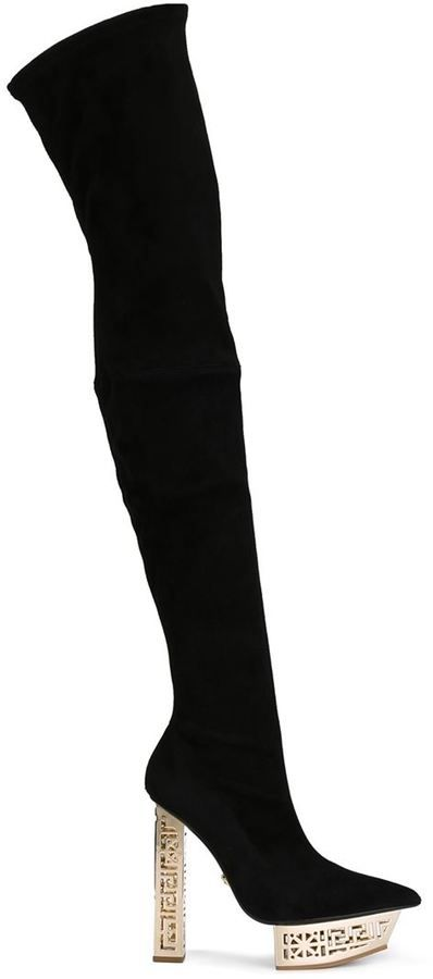 Versace stylised platform thigh-high boots