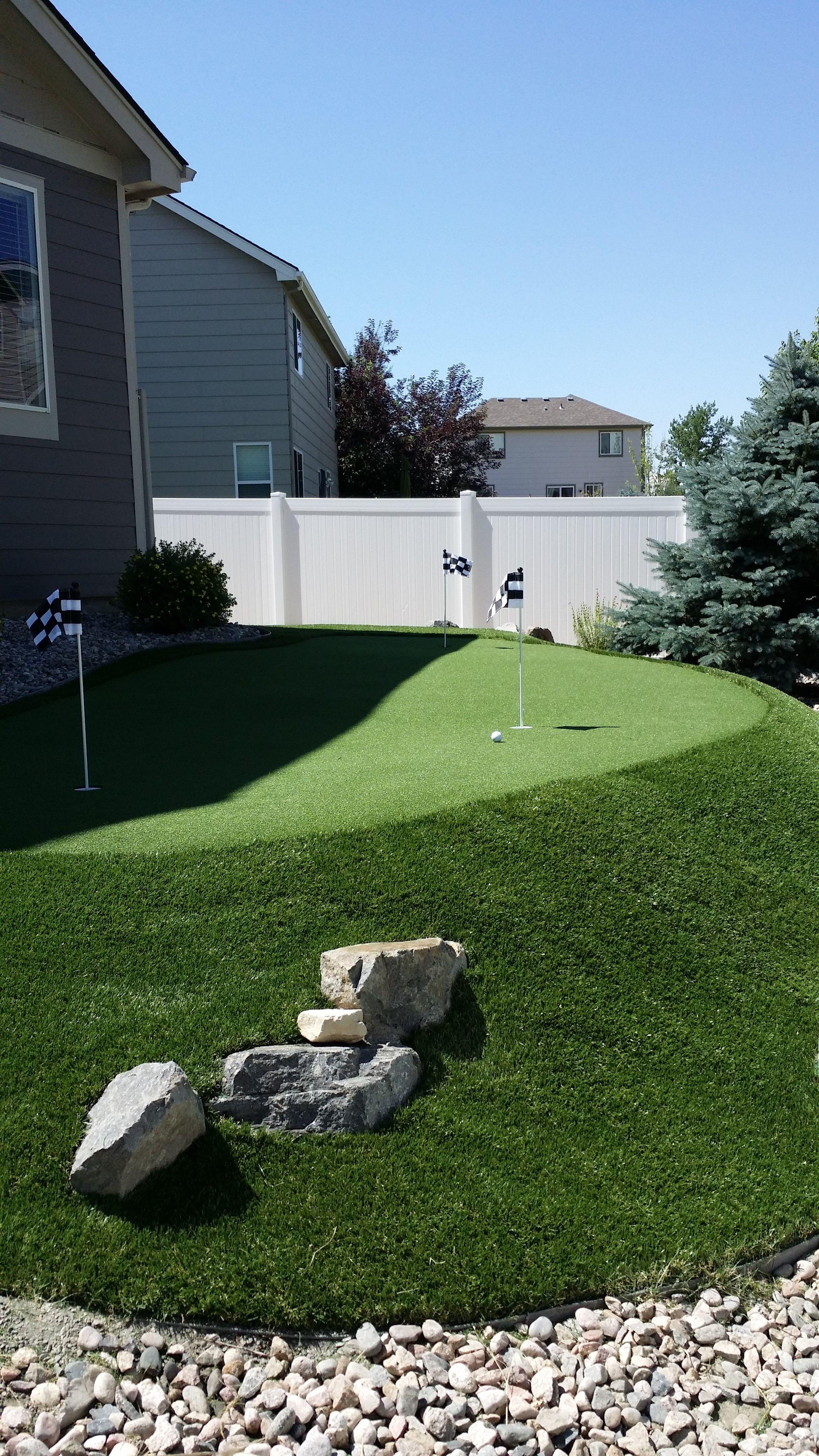 backyard artificial putting green in denver artificial grass