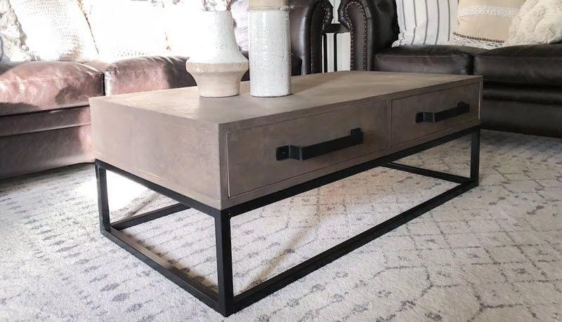 21 Unique Diy Coffee Tables Ideas And Plans Coffee Table Diy Coffee Table Steel Coffee Table