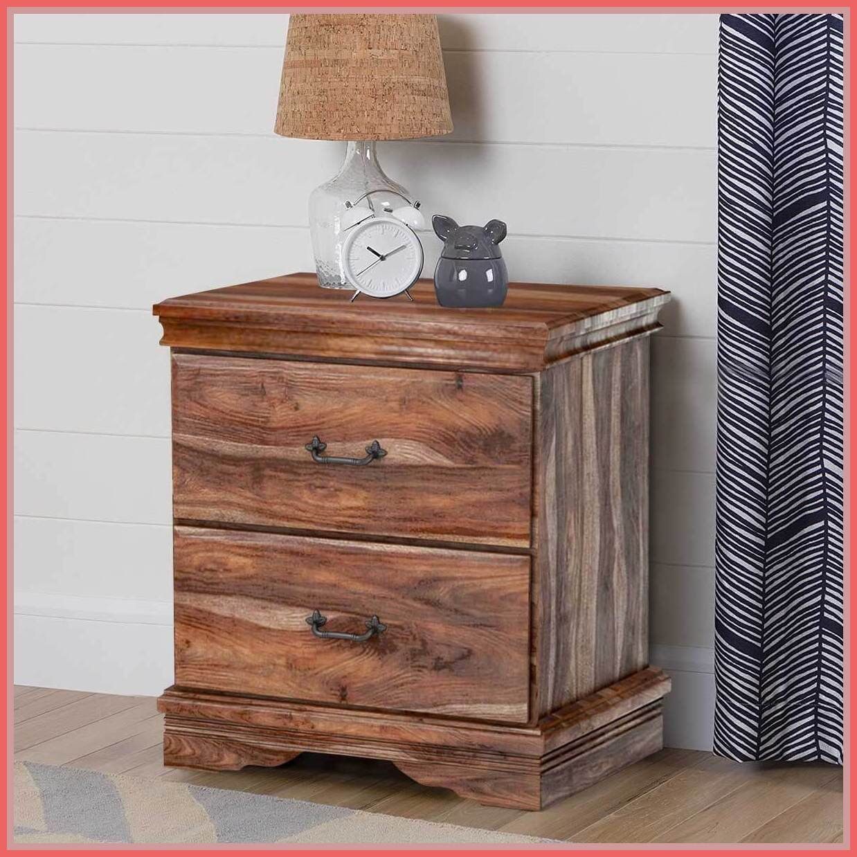 48 reference of 2 drawer wood nightstand in 2020 Wood