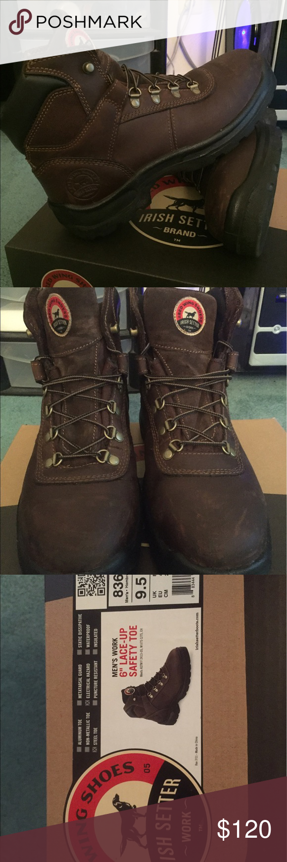 Red Wing Steel Toe Irish Setters Red Wing Steel Toe Irish Setters. Practically new! Red Wing Shoes Shoes Boots