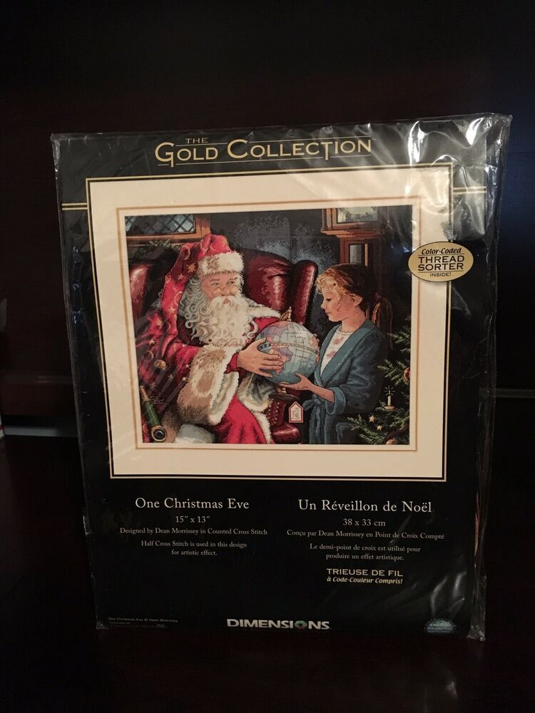 "16/"" Long Dimensions Gold Collection Sleigh Ride At Dusk Stocking Counted Cross"