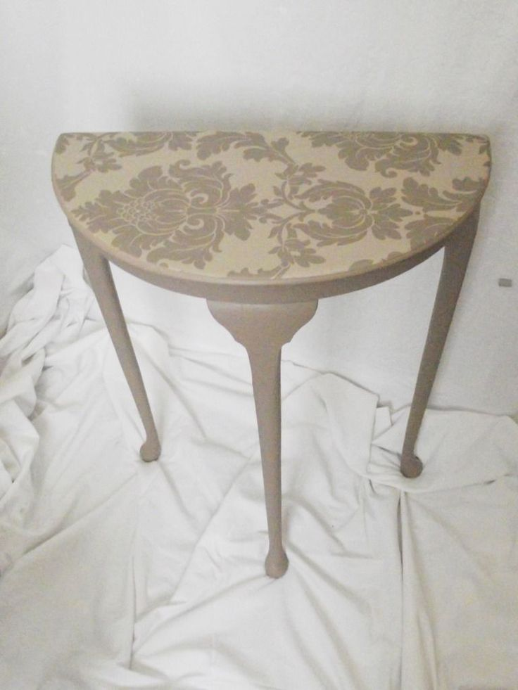 image result for upcycled half moon table with drawer