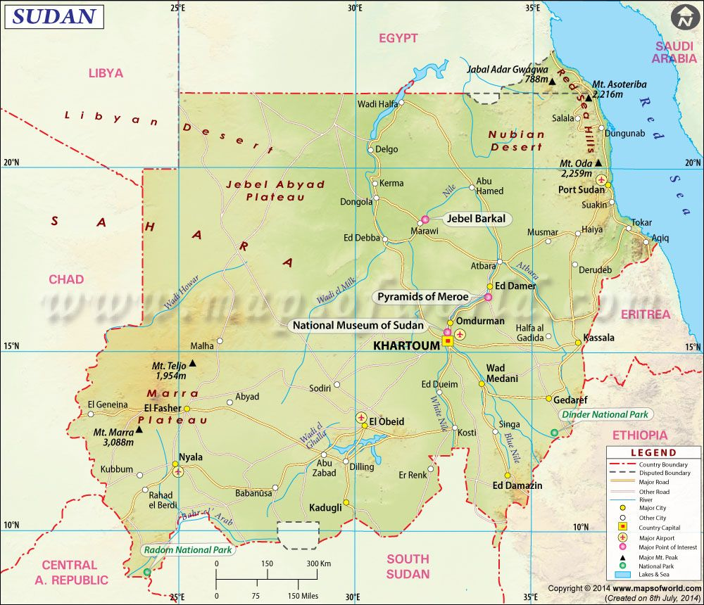 Sudan Map  Mapa de Pases  Pinterest  Red sea Africa and