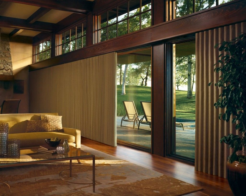 window treatments for sliding door wall window treatment