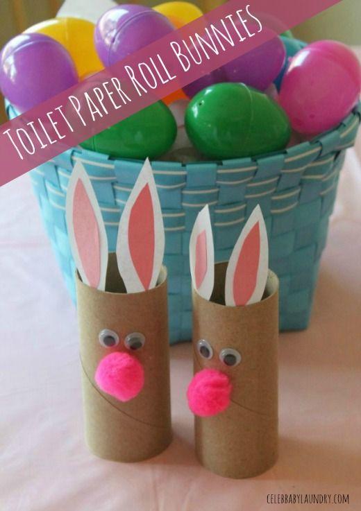 Fun Toddler Craft: Toilet Paper Roll Bunnies #EasterCraft ...