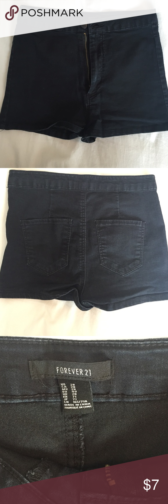Forever21 shorts Forver21 shorts. Very stretchy material. High Rise. Size: 28 Forever 21 Shorts