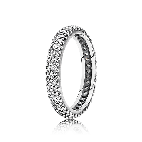 6cffa0bbdc5c4 Small round eternity silver ring with cubic zirconia - 190941CZ ...